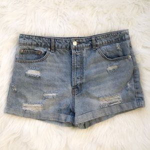 Forever 21 Distressed High Waist Shorts g14